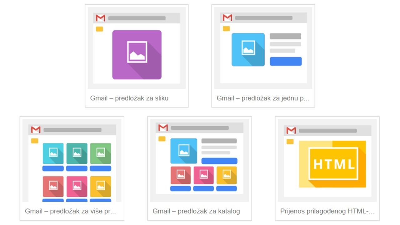 AdWords predlošci za izradu Gmail oglasa - GSP oglasi