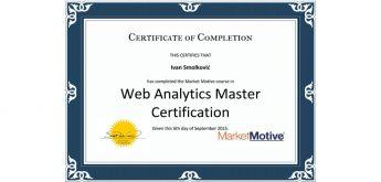 KG Medijin Ivan Smolković dobitnik prestižnog Web Analytics Master certifikata!