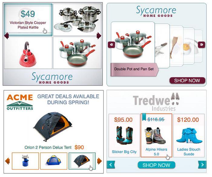 Primjer oglasa za dinamički remarketing