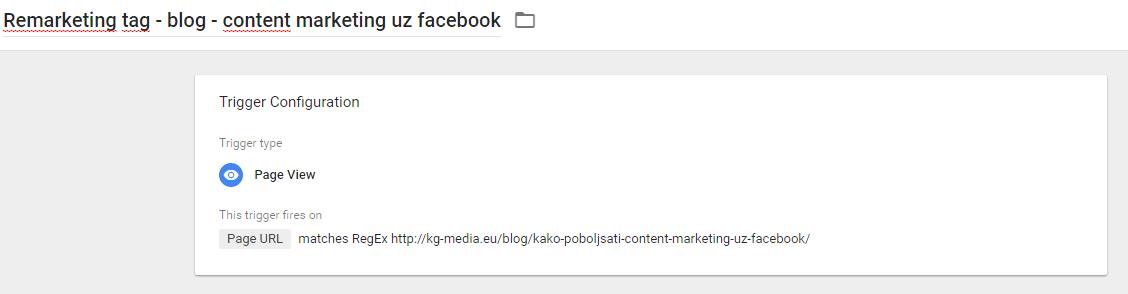 Google Tag Manager - remarketing tag