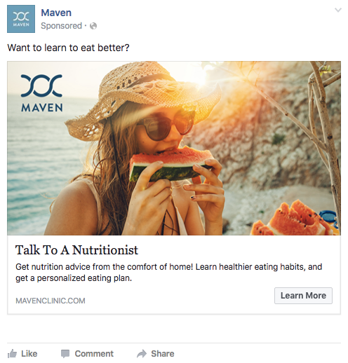 Primjer odličnog Facebook oglasa