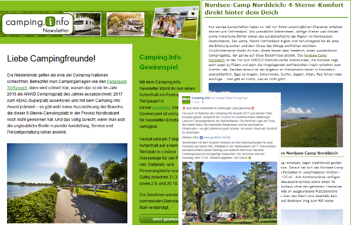 camping.info newsletter