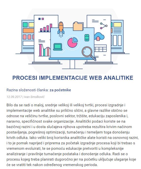 Imlpementacija web analitike