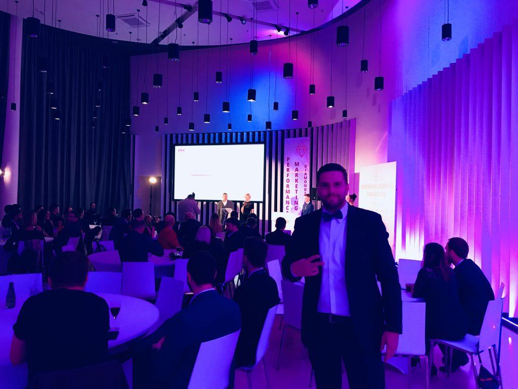 Ivan na dodjeli nagrada - Performance Marketing Diamonds CEE 2018.