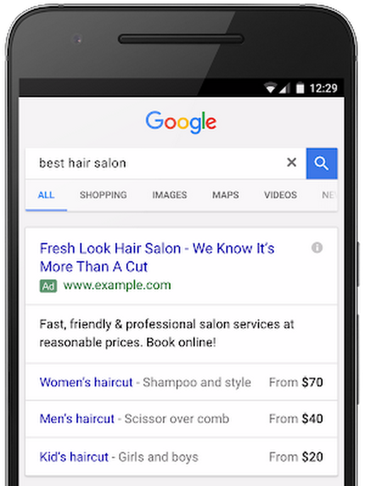 Google Ads ekstenzije - Proširenje cijena